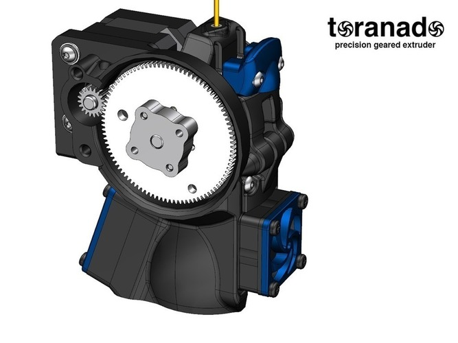 The Toranado Precision Geared 1.75mm Extruder 3D Print 63269
