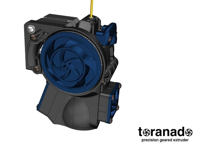 The Toranado Precision Geared 1.75mm Extruder 3D Print 63271