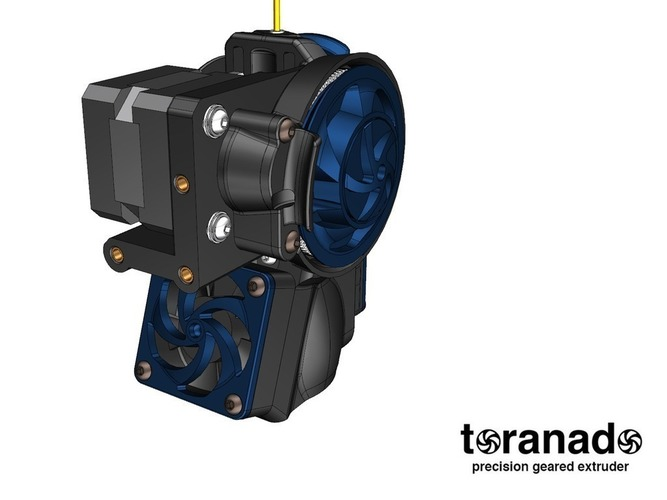 The Toranado Precision Geared 1.75mm Extruder 3D Print 63272