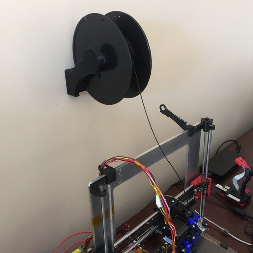 3d Printed Spool Holder Wall Mount Optimized For
