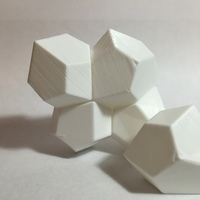 Small 13 Faced, Space-Filling Polyhedron 3D Printing 63347