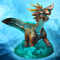 Small Stormy Seas Kaiju Low Poly Figurine 3D Printing 6336