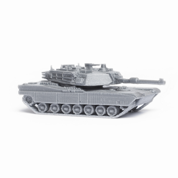 Medium M1 Abrams Tank Simple Model Kit 3D Printing 63445