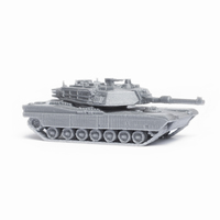 Small M1 Abrams Tank Simple Model Kit 3D Printing 63445
