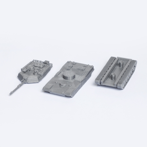 M1 Abrams Tank Simple Model Kit 3D Print 63447