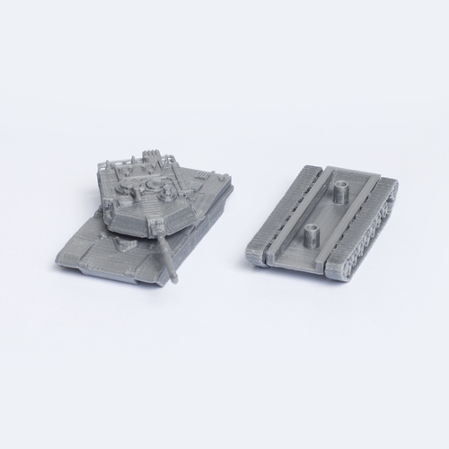 M1 Abrams Tank Simple Model Kit 3D Print 63448