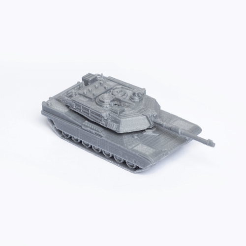 M1 Abrams Tank Simple Model Kit 3D Print 63449