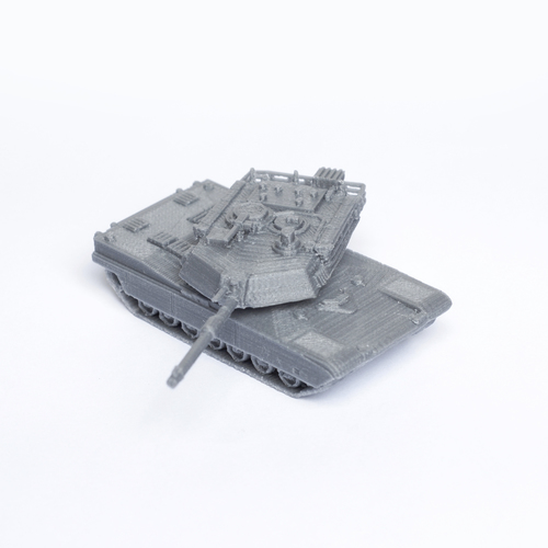 M1 Abrams Tank Simple Model Kit 3D Print 63450