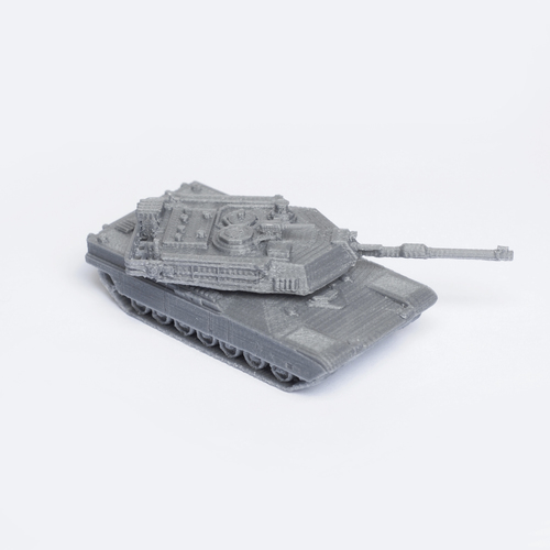 M1 Abrams Tank Simple Model Kit 3D Print 63451