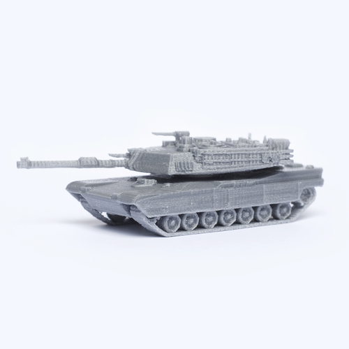 M1 Abrams Tank Simple Model Kit 3D Print 63452