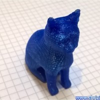 Small sitting cat 3D Printing 63487