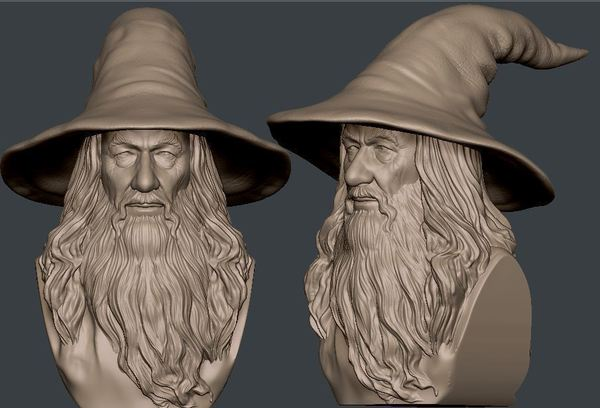 Medium Gandalf Bust 3D Printing 63578