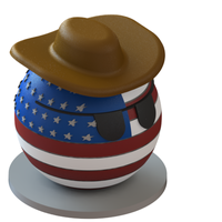 Small USA countryball 3D Printing 63589
