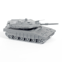 Small Merkava Tank Simple Model Kit 3D Printing 63590