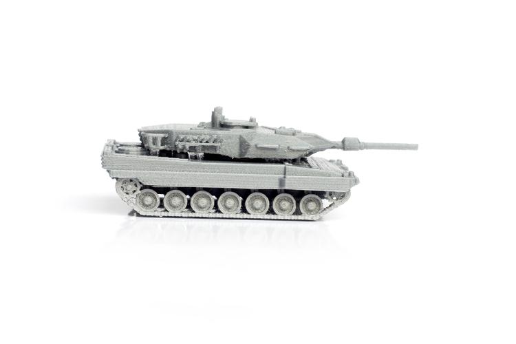 D printed leopard tank simple model kit by formbyte