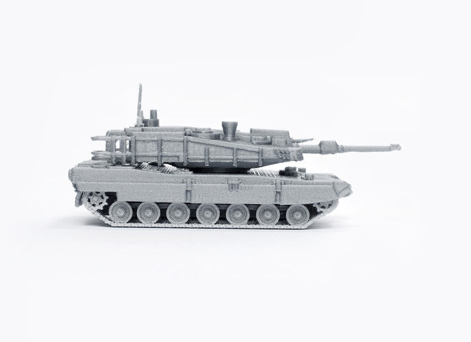 K2 Black Panther Tank Simple Model Kit 3D Print 63611