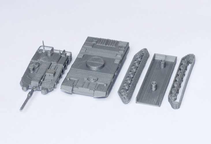 K2 Black Panther Tank Simple Model Kit 3D Print 63612
