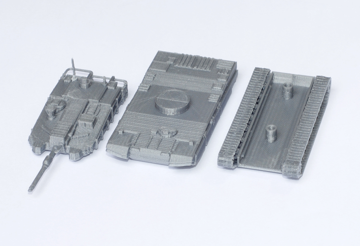 K2 Black Panther Tank Simple Model Kit 3D Print 63613