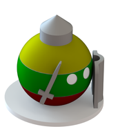 Small Lithuania countryball 3D Printing 63635