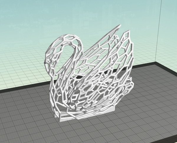 Medium Voronoi Experiment No:14 Odile The Swan 3D Printing 63636