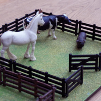 Small Farm fence for toy animals 3D Printing 63758