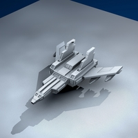 Small Jet fighter 3D Printing 6402