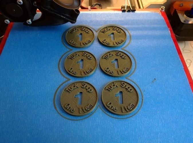 3D Printed Tuck Shop Coin by Pierce Ferriter   Pinshape