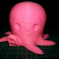 Small Cute Octopus candy holder with mouth 3D Printing 64049