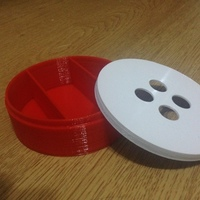 Small Button box 3D Printing 64072