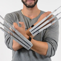 Small Modified big hands Wolverine Claws Dual action 3D Printing 64195