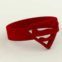 Small Superman Ring (sizes US 6 - 12) 3D Printing 64250