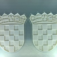 Small Coat of arms of Croatia 3D Printing 64266