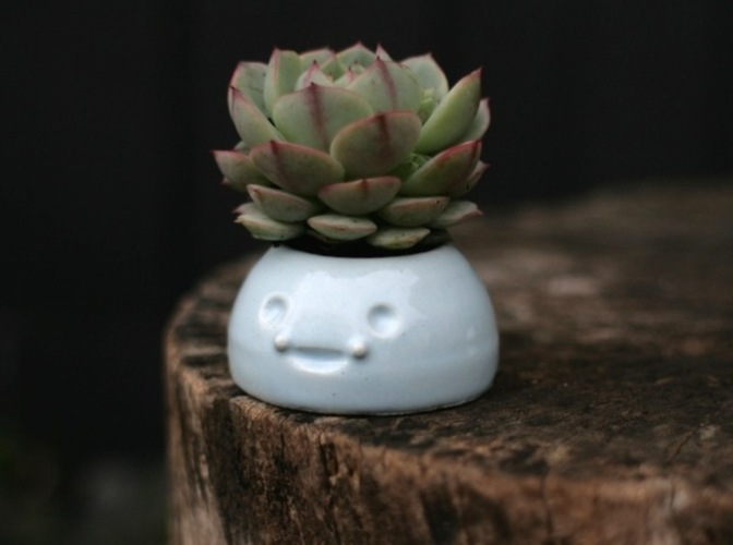 Happy Planters- Small 3D Print 6437