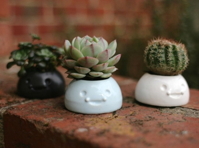 Happy Planters- Small 3D Print 6438