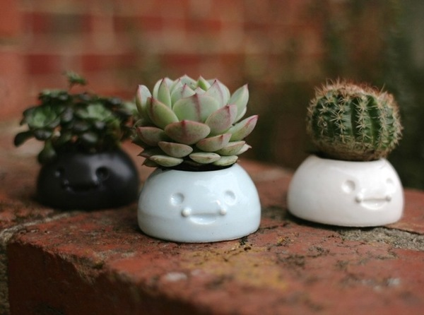 Medium Happy Planters- Small 3D Printing 6438