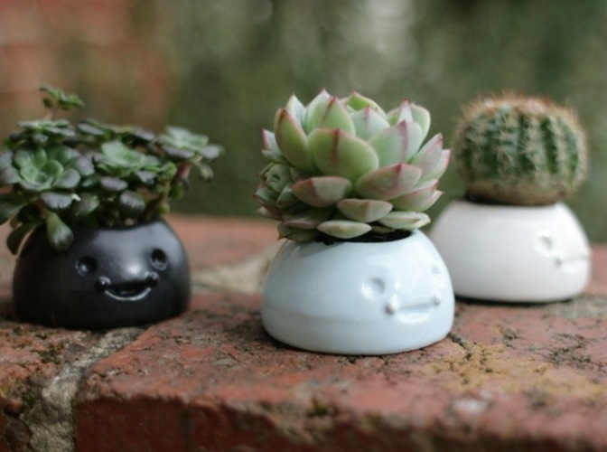 Happy Planters- Small 3D Print 6439