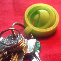 Small gyroscopic keychain 3D Printing 64488