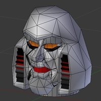 Small Robot upload Original Megatron Head and Radioactive Robot 3D Printing 64581