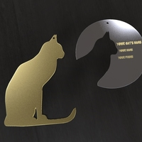 Small Cat Tag and Cat Necklaces 3D Printing 64599