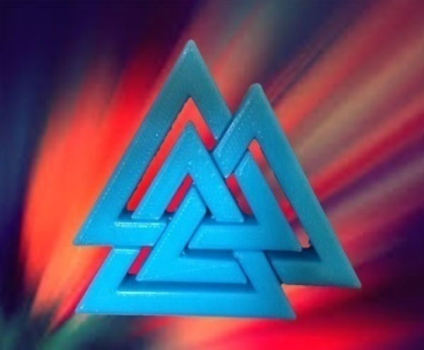 Medium Valknut 3D Printing 64647