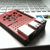 Small Raspberry Pi case (model B+ / 2 / 3) 3D Printing 64763