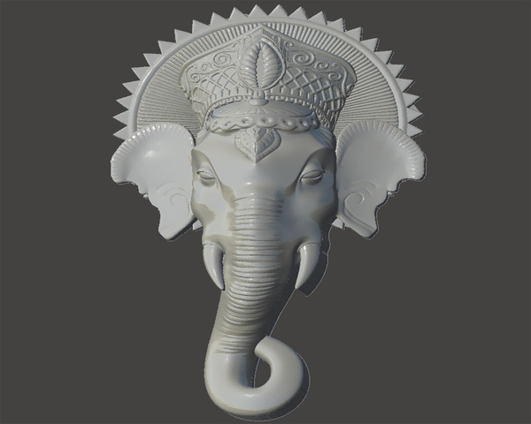 Medium Ganesh 3D Printing 64825