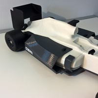 Small open rc f1 body kit 3D Printing 64892