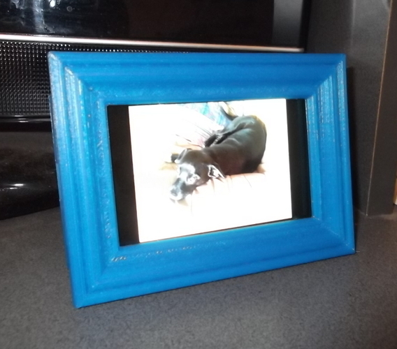 3d Printed Phone Picture Frame By Mybrainhurts Pinshape