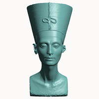Small Bust of Nefertiti-Real 3d scan  3D Printing 65098