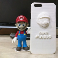 Small IPHONE6 Case - Super Mario 3D Printing 65106