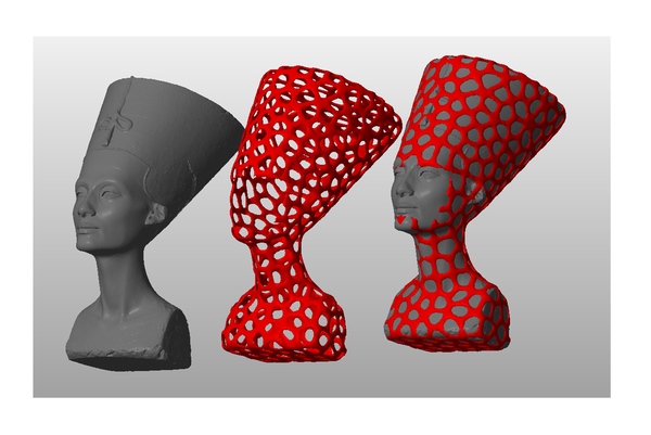 Medium Nefertiti-Dual-color 3D Printing 65171