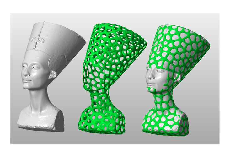 Nefertiti-Dual-color 3D Print 65173