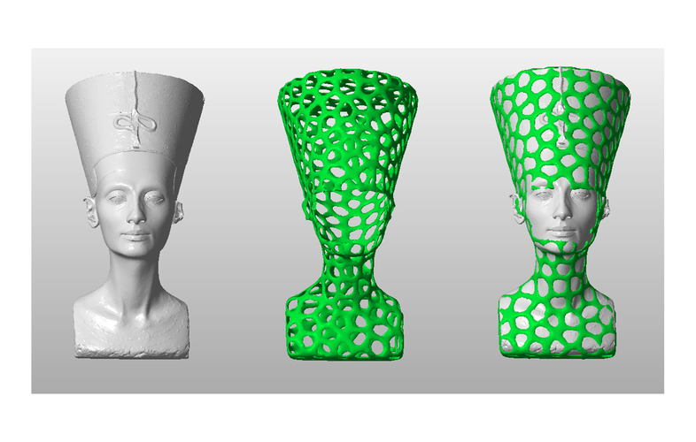 Nefertiti-Dual-color 3D Print 65175