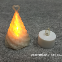 Small Decoration of LED candle 3D Printing 65224